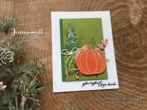 Pick a pumpkin stamp set card by Jenny Hall at www.jennystampsup.com for cardmaking, papercrafts, video tutorials, scrapbooking and more!
