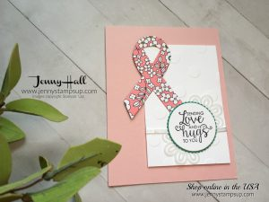 Ribbon of Courage Team project card for Jenny Hall's Team of stampers at www.jennystampsup.com for cardmaking, Stampin' Up! products, scrapbooking, video tutorials and more!