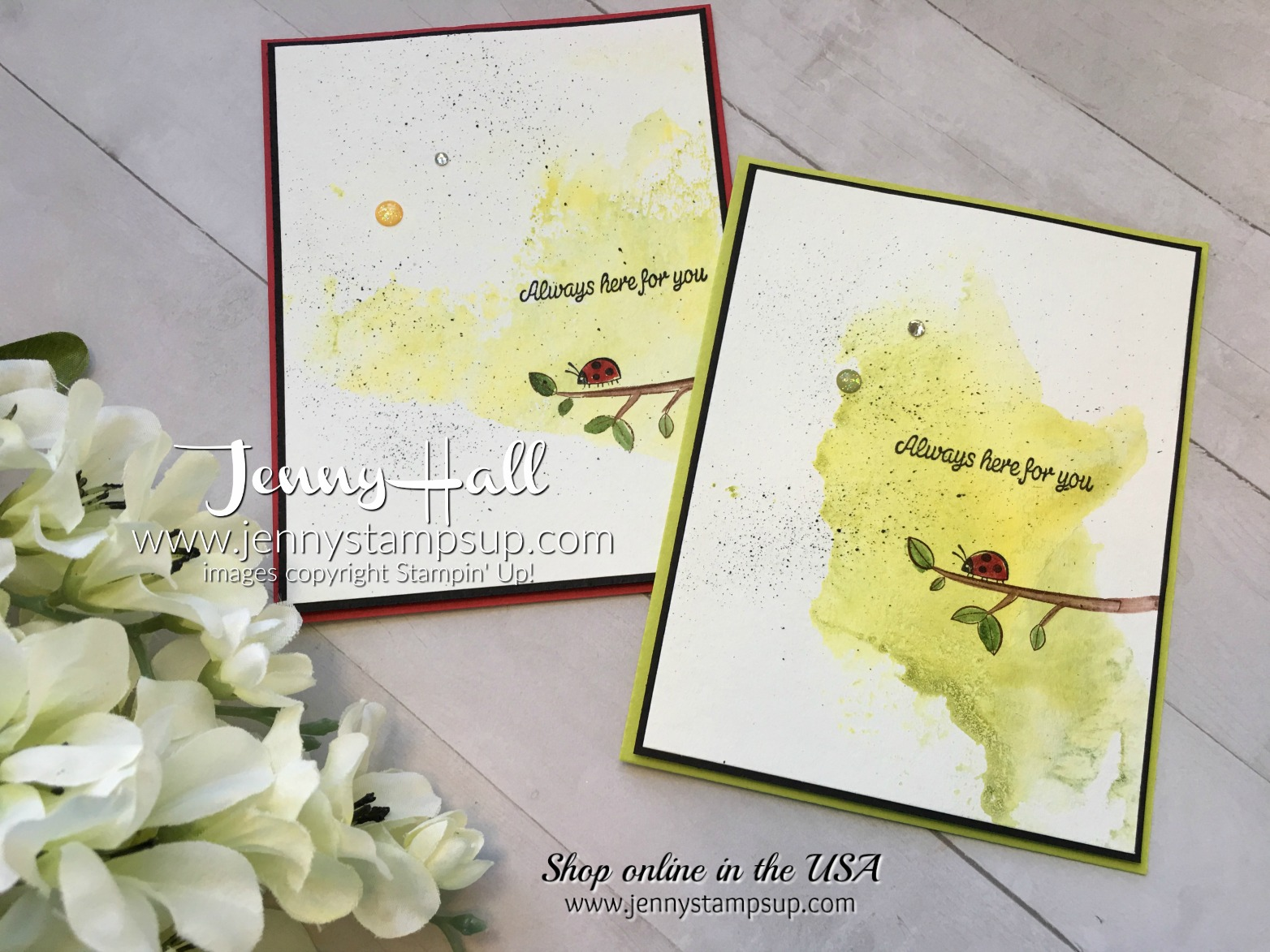 2017 OnStage Swap cards by Jenny Hall at www.jennystampsup.com for cardmaking, scrapbooking, papercraft gift giving, video tutorials and more!