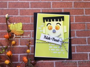 Punch Art Halloween card by Jenny Hall at www.jennystampsup.com for cardmaking, stamping, video tutorials, papercrafts, scrapbooking and more!