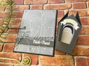 Halloween woodlands card by Jenny Hall at www.jennystampsup.com for cardmaking, video tutorials, scrapbooking, papercrafts by Stampin' Up! and more