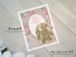 Sweet Little Something baby card made for 2017 OnStage Display in SLC by Jenny Hall at www.jennystampsup.com for cardmaking, video tutorials, scrapbooking and more!