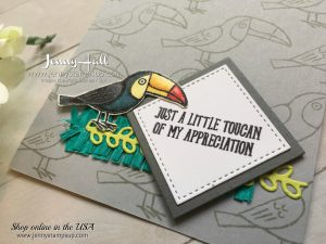 Bird Banter card by Jenny Hall for 2017 OnStage Display Stamper blog hop at www.jennystampsup.com