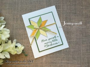 Christmas Quilt card by Jenny Hall at www.jennystampsup.com for cardmaking, video tutorials, scrapbooking and more!