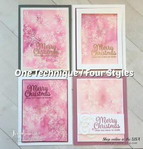 Guest Designer for InKing Royalty with Emboss Resist technique with Video by Jenny Hall at www.jennystampsup.com for cardmaking, scrapbooking, video tutorials, papercraft gift giving and more!