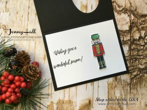 Sugarplum Dreams Nutcracker card by Jenny Hall at www.jennystampsup.com for cardmaking, video tutorials, scrapbooking, and more!
