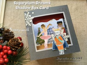 Sugarplum Dreams Shadow Box card by Jenny Hall at www.jennystampsup.com for cardmaking, scrapbooking, video tutorials and more!