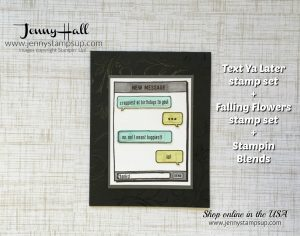 Text Ya Later card by Jenny Hall at www.jennystampsup.com for cardmaking, scrapbooking, video tutorials and more!