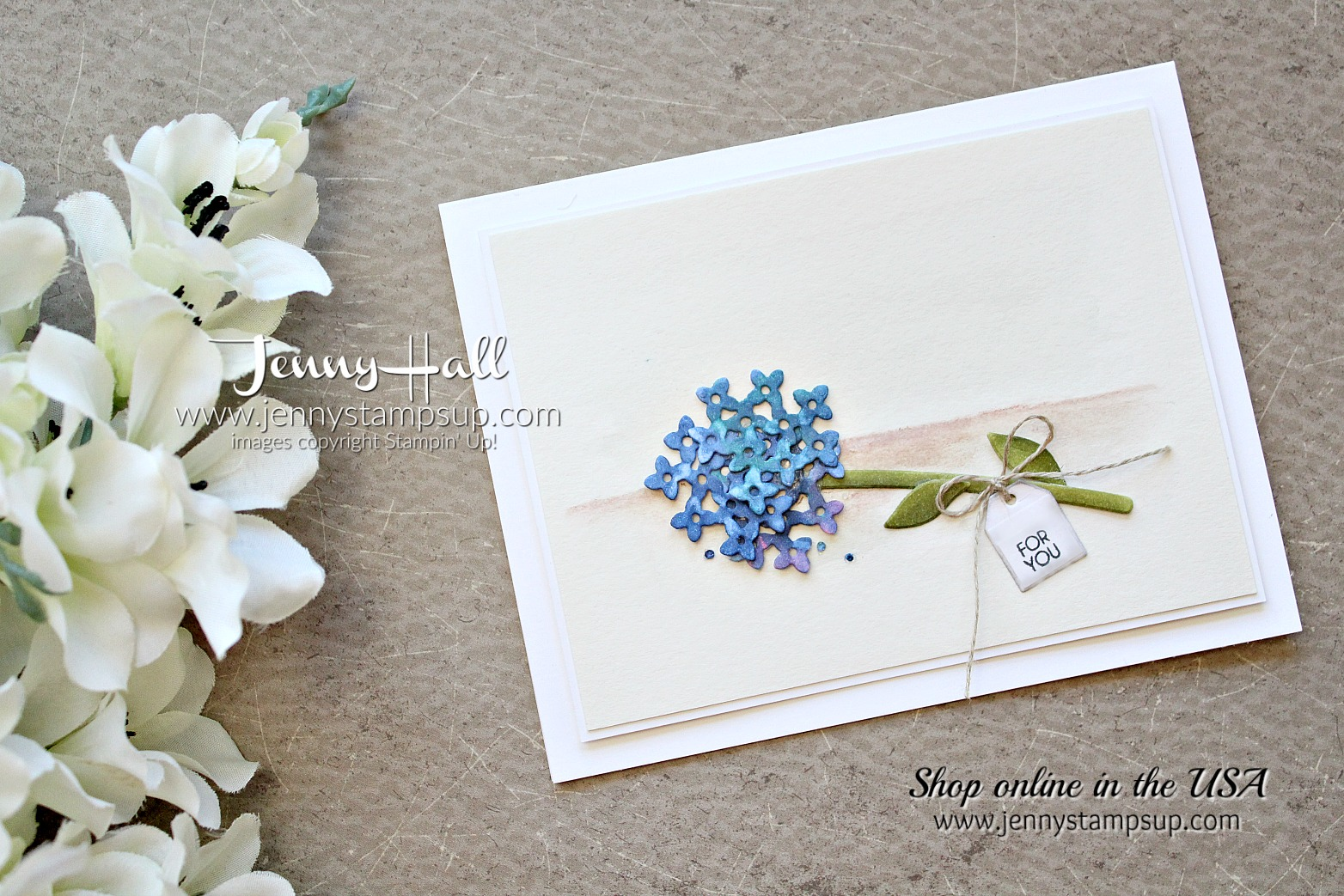 Beautiful Bouquet clean and simple card by Jenny Hall at www.jennystampsup.com for #cardmaking #stampinup #scrapbooking #watercolor #cardmakingtechniques #jennystampsup #jennyhalldesign #jennyhallstampinup #cardmakingchallenge #beautifulbouquet and more!