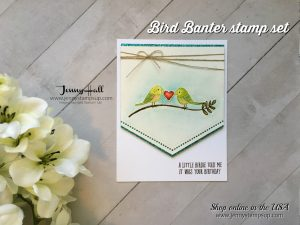 Bird Banter no line watercolor card by Jenny Hall at www.jennystampsup.com for cardmaking, video tutorials, scrapbooking and more!