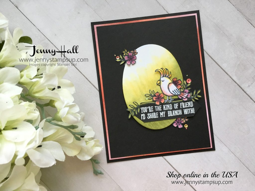 Bird Banter Flowers by Jenny Hall at www.jennystampsup.com