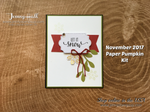 November 2017 Paper Pumpkin alternative card by Jenny Hall at www.jennystampsup.com for cardmaking, scrapbooking, video tutorials and more!