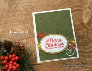 Nostalgic Christmas Card by Jenny Hall at www.jennystampsup.com for cardmaking, scrapbooking, video tutorials and more!