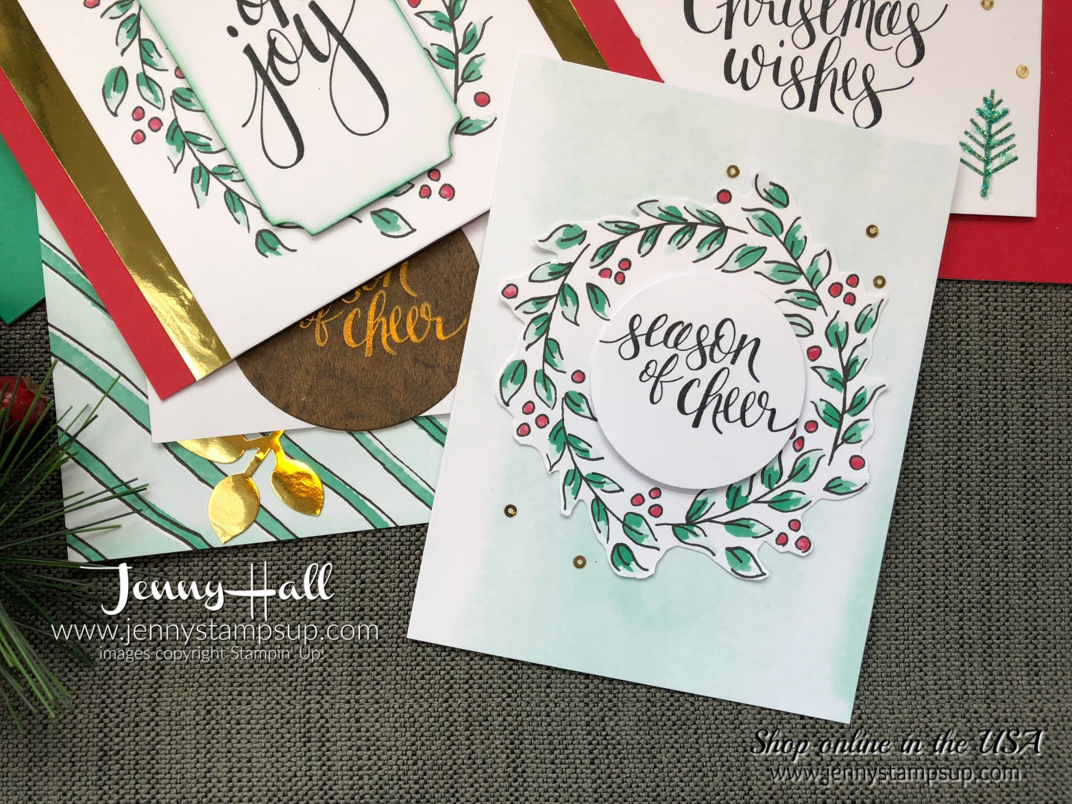 Watercolor Christmas Kit alternative cards with Video - Jenny Hall ...