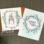 Watercolor Christmas card kit cards by Jenny Hall at www.jennystampsup.com for cardmaking, scrapbooking, video tutorials and more!