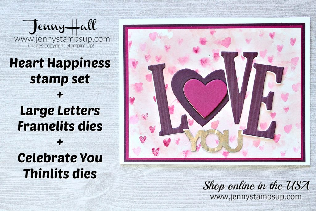 January Ink & Inspiration Blog Hop card Love Me Tender by Jenny Hall at www.jennystampsup.com for #stampinup #cardmaking #watercolor #watercolorsmooshing #cardmakingtechnique #jennyhalldesign #jennystampsup #jennyhallstampinup #hearthappiness
