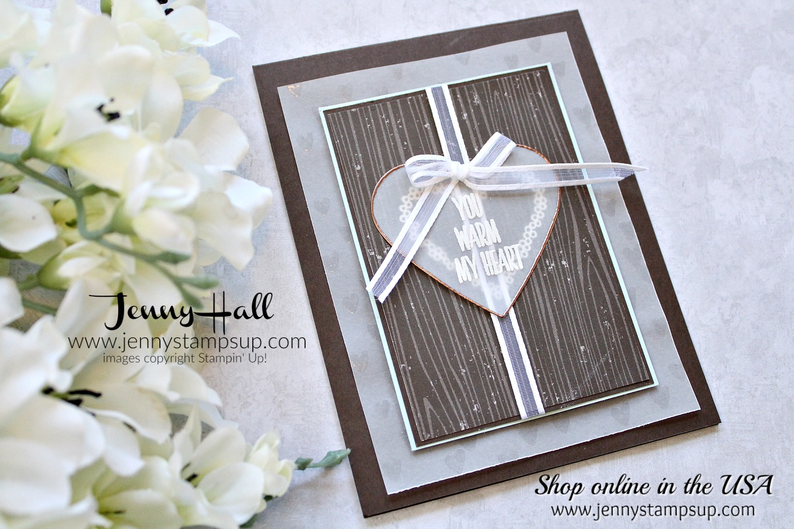 Embossed Vellum card by Jenny Hall at www.jennystampsup.com for #stampinkpaperchallenge #cardmaingchallenge #cardmaking #stampinup #stamping #jennystampsup #jennyhallstampinup #jennyhalldesign #hearthappiness #lovelywishes #paperembossing #vellum #videotutorials #cardmakingvideo #scrapbooking and more!