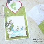 January Stampin Friends Blog Hop card and bag featuring Magical Day stamp set from the Myths & Magic Suite by Stampin' Up! created by Jenny Hall at www.jennystampsup.com for #cardmaking #papercraft #handmade #giftbag #jennyhalldesign #jennyhallstampinup #jennystampsup #mermaid #mermaidhair #mermaidtheme #mythsandmagic #magicaldaystampset #stampinblends  #bloghop #cardmakingbloghop #sfbh #stampinfriendsbloghop