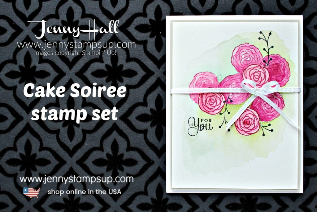 How to mask an image by Jenny Hall at www.jennystampsup.com for #cardmaking #stampinup #videotutorial #youtuber #craftyyoutuber #maskingtechnique #jennyhalldesign #jennystampsup #jennyhall #jennyhallstampinup #onelayercard #cakesoiree #cardmakingtechnique #watercolorpainting #watercolor #diy #crafts #cascards #kidfriendlycraft