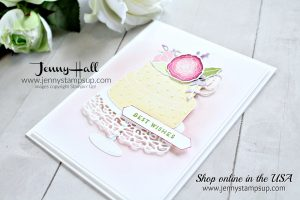 February Be Inspired Blog Hop project by Jenny Hall at www.jennystampsup.com for #cardmaking #videotutorials #cardmakingvideo #beinspiredbloghop #cascards #cake card #embossingpaste #cakesoireebundle #stamping #stampinup #jennyhalldesign #jennystampsup #jennyhall #jennyhallstampinup #pastels #crafts #paperembossing #diy #handmadecard #greetingcard #lifestyle #beinspired