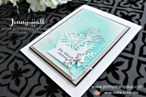 Team projects and Techniques with Glossy White Paper card created by Jenny Hall at www.jennystampsup.com for #cardmaking #stampinup #stamping #cardmakingtechnique #cardmakingdesign #cascards #cleanandsimplecards #youtuber #stampinupteam #artofimagination #jennyhalldesign #jennystampsup #jennyhallstampinup #papercrafts #diecuts #handmadecard #crafts #creativelife
