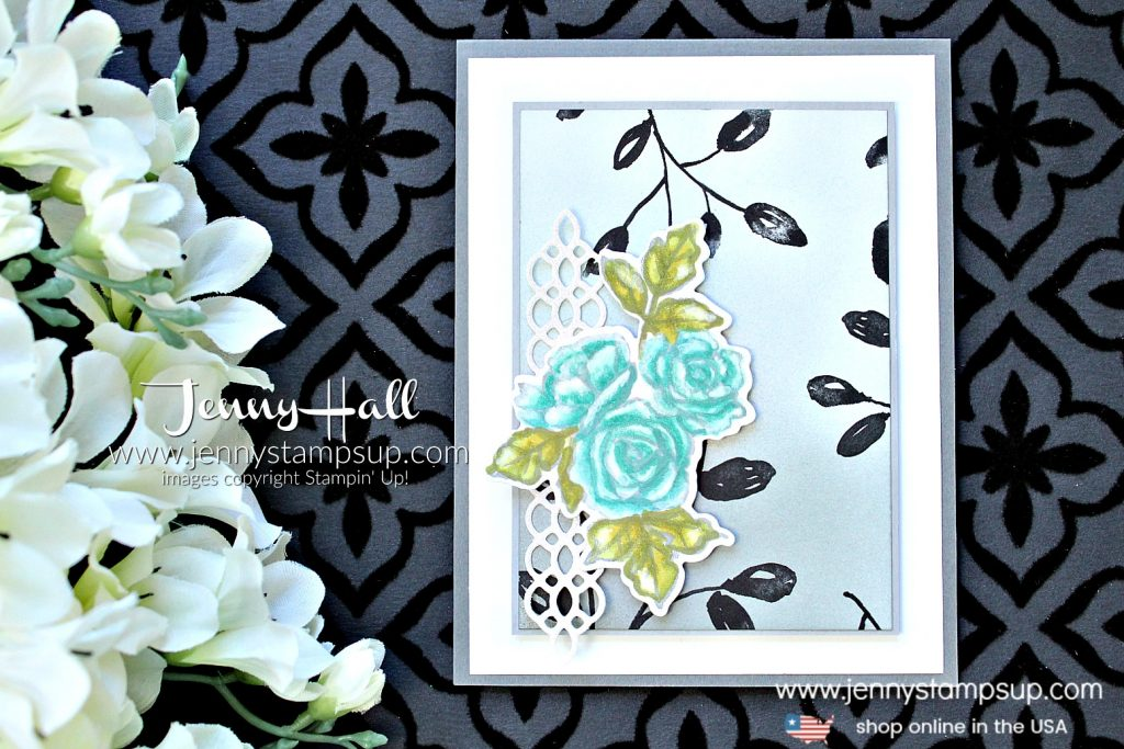 Stamping Sunday Blog Hop Guest Designer card by Jenny Hall at www.jennystampsup.com with #petalpassion #inkblending #brayer #twilight #morninglight #moonlight #petalpassiondsp #stamping #stampinup #cards #stampinblends #ombre #cardmakingtechnique #videotutorial #cardmakingvideo #youtuber #sympathycard #cascards #papercraft #watercolor #paperembossing #guestdesigner #ssbh #stampingsunday #stampingsundaybloghop