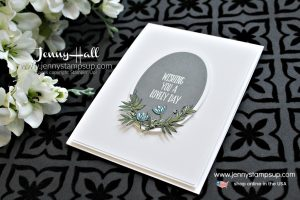 March Be Inspired Blog Hop card featuring Lovely Wishes stamp set created by Jenny Hall at www.jennystampsup.com for #cardmaking #stamping #cascards #artnouveau #artdeco #beinspired #beinspiredbloghop #handmadecard #jennyhall #jennyhalldesign #jennystampsup #jennyhallstampinup #lifestyle #youtuber