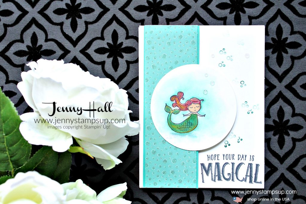 March OSAT Blog Hop Magical Day mermaid card created by Jenny Hall at www.jennystampsup.com for #mermaid #mermaidhair #mermaidstamp #osatbh #osatbloghop #marchosatbloghop #magicalday #stampinup #stamping #cardmaking #cardmaker #stampinblends #videotutorial #youtuber #processvideo #magical #jennyhall #jennyhalldesign #jennyhallstampinup #jennystampsup #watercolor #crafts #lifestyle #creativelife #diy