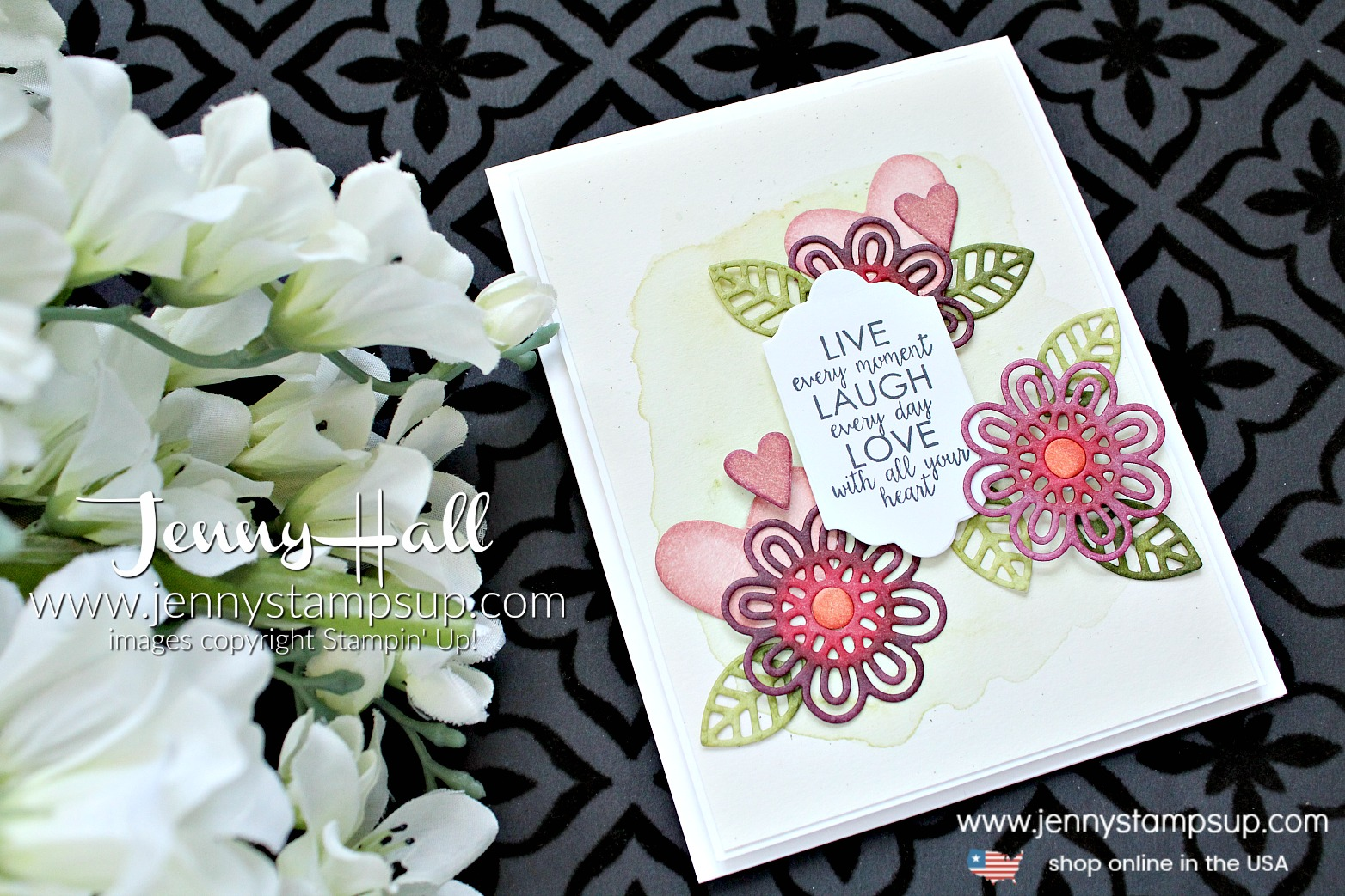 April OSAT Blog Hop Coloring die cuts card by Jenny Hall at www.jennystampsup.com for #cardmaking #stamping #stampinup #watercolorpainting #crafts #papercrafts #cardmakingchallenge #livelaughlove #jennyhall #jennystampsup #jennyhalldesign #videotutorial #youtuber #craftyyoutuber #kidfriendly #christiancraft
