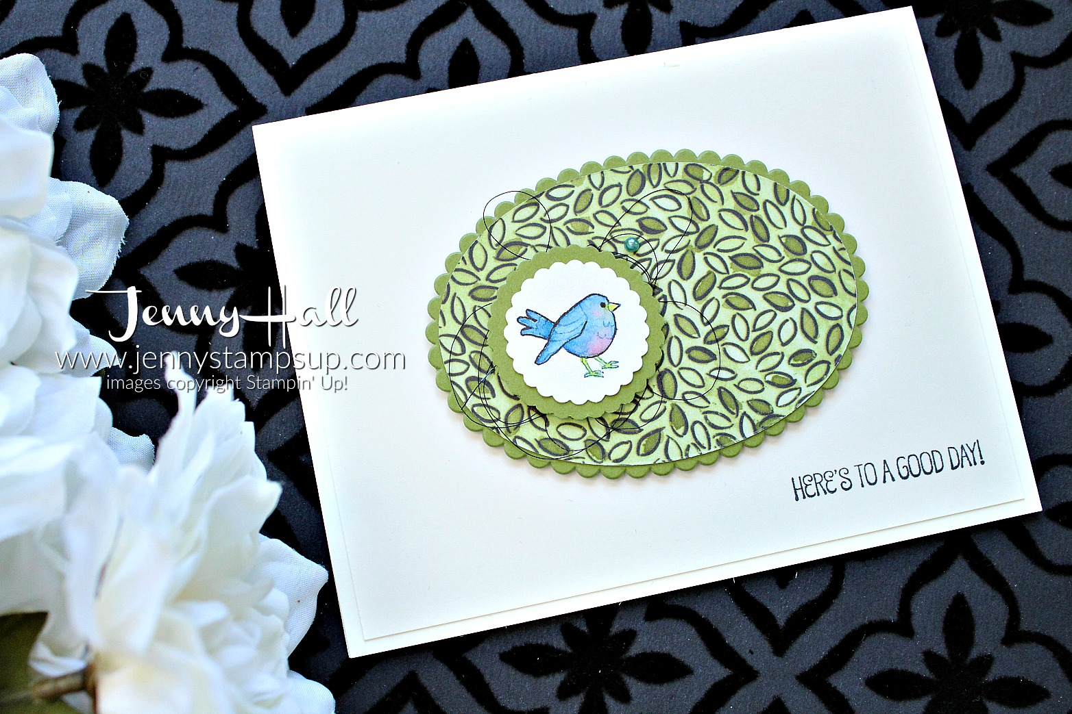 April Go For Greece blog hop card created by Jenny Hall at www.jennystampsup.com for #cardmaking #stamping #stampinup #agoodday #sharewhatyoulove #bluebird #bluebirdofhappiness #jennyhall #jennyhalldesign #jennystampsup #bloghop #goforgreece #gfgbh #papercrafting #crafts #nature