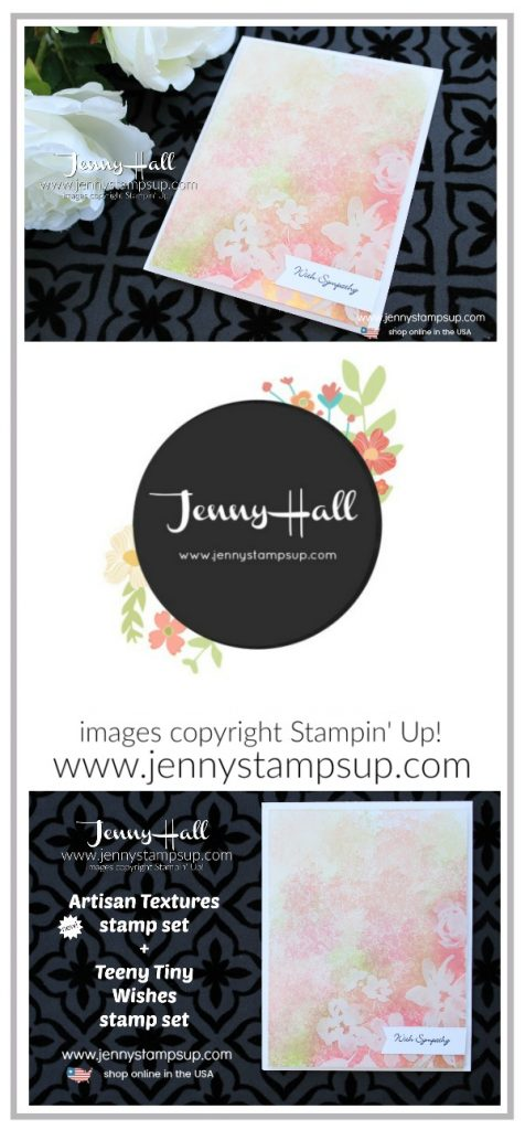 New Product Artisan Textures stamp set card created by Jenny Hall at www.jennystampsup.com for #cardmaking #stamping #stampinup #rubberstamp #teenytinywishes #artisantextures #gardentheme #jennyhall #jennyhalldesign #jennystampsup #newproduct #newsucatalog #2018annualcatalog #sympathycard #crafts #lifestyle #youtuber #kidfriendlycraft