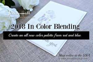 In Color Palette with Jenny Hall at www.jennystampsup.com for #cardmaking #stamping #incolors #2018incolors #blueberrybushel #lovelylipstick #blendingcolors #stampinup #jennyhall #jennystampsup #jennyhallstampinup #paperembossing #lovewhatyoudo #watercolorpainting #art #creativelife #lifestyle