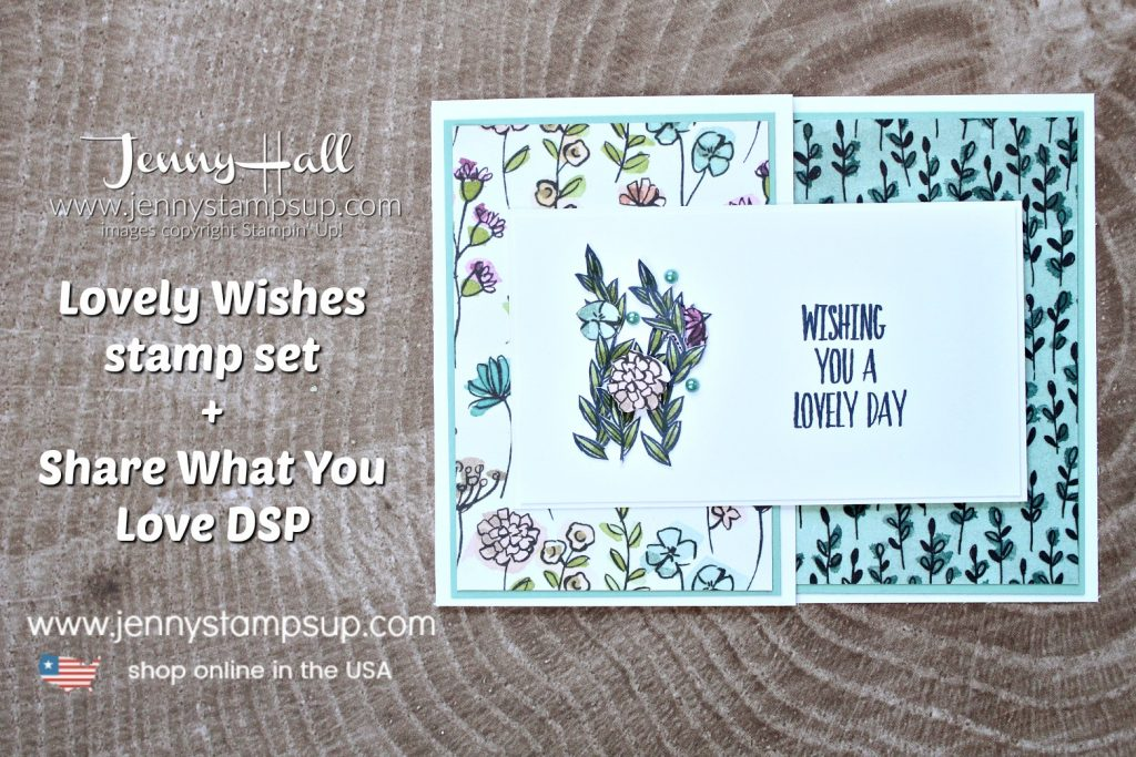 Lovely Wishes fancy fold card created by Jenny Hall of www.jennystampsup.com for #cardmaking #whatwillyoustamp #sharewhatyoulovedsp #jennyhall #jennyhalldesign #jennystampsup #jennyhallstampinup #stampinup #rubberstamp #fussycut #fancyfoldcard #lifestyle #papercrafting #handmadecard #cardmaker #crafts