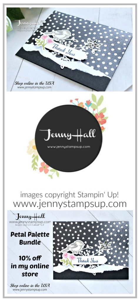 Petal Palette die cut card created by Jenny Hall at www.jennystampsup.com for #cardmaking #petalpalette #stampinup #stamping #jennyhall #jennyhalldesign #jennystampsup #handmadecard #rubberstamp