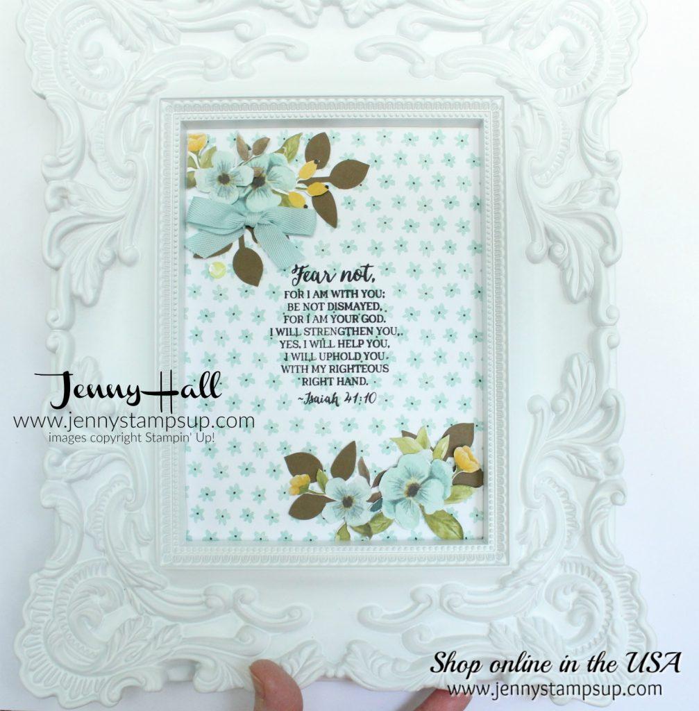April Stampin Friends blog hop card created by Jenny Hall at www.jennystampsup.com for #cardmaing #homedecor #decoratedframe #rosewonder #wholelotoflovely #bibleverse #stamping #stampinup #jennyhall #jennystampsup #jennyhalldesign #crafts #lifestyle