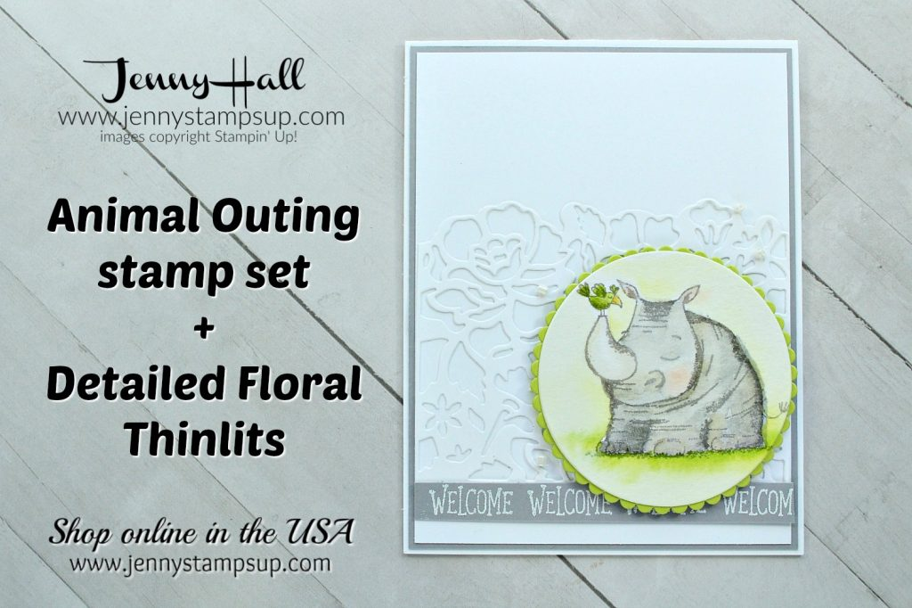May Stampin Dreams Blog Hop card created by Jenny Hall at www.jennystampsup.com for #cardmaking #jennyhall #jennyhalldesigns #stampinup #stamping #youtuber #videotutorial #watercolorpainting #paperembossing #animalouting #crafts #craftsforkids