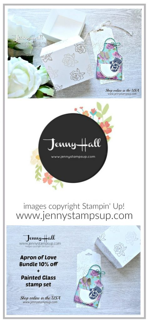 Apron of Love gift tag and box created by Jenny Hall at www.jennystampsup.com for #stamping #cardmaking #diy #crafts #craftsforkids #apronoflove #giftpackaging #giftbox #wwyschallenge #stampinup #jennyhall #jennyhalldesign #jennyhallstampinup #jennystampsup #youtuber #tutorial #lifestyle #mothersdaygift