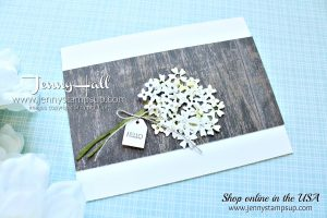 Simple Rustic Bouquet created by Jenny Hall at www.jennystampsup.com for #cardmaking #handmadecard #stamping #papercrafts #lifestyle #diy #beautifulbouquet #woodtexturesdsp #cascards #stampinblends #stampinup #jennyhall #jennyhalldesign #jennystampsup #videotutorial #youtuber