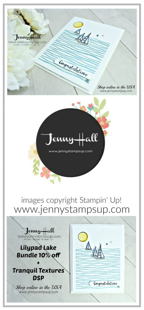 Lilypad Lake CAS card created by Jenny Hall at www.jennystampsup.com for #cardmaking #stamping #cascards #cleanandsimple #lilypadlakebundle #lakesideframelits #jennyhall #jennyhalldesign #jennystampsup #sailboat #sailing #masculinecard #tranquiltexturesdsp #videotutorial #unboxing #youtuber #papercrafts #craftsforkids #simplyshammy