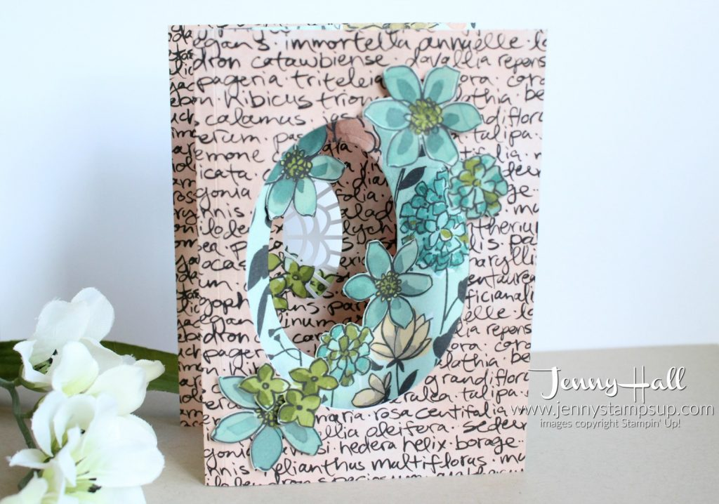 Share What You Love Tri-Fold Window card created by Jenny Hall at www.jennystampsup.com for #cardmaking #stamping #papercrafts #crafts #craftsforkids #sharewhatyoulove #lovewhatyoudo #statementoftheheart #layeringovals #stampinup #jennyhall #jennyhalldesign #jennystampsup #mothersdaycard #diy #youtuber