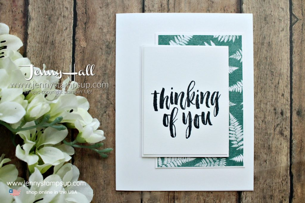 Nature's Poem DSP card created by Jenny Hall at www.jennystampsup.com for #stampinup #stamping #cardmaking #rubberstamp #naturespoemdsp #rootedinnature #videotutorial #youtuber #globaldesignproject #greetingcard #papercrafts #crafts #craftsforkids