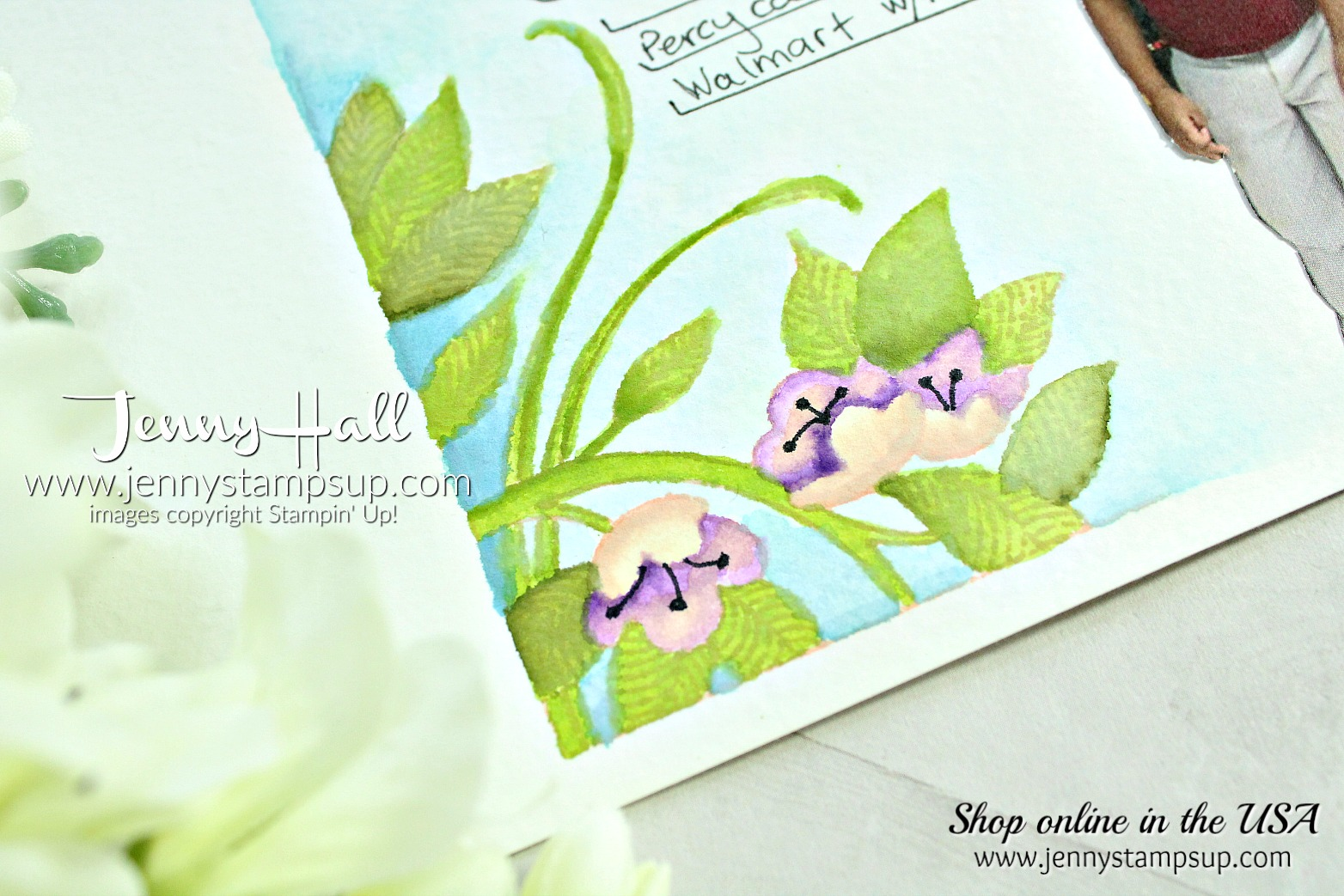May Scrapbook Sunday Blog Hop page created by Jenny Hall at www.jennystampsup.com for #scrapbooking #serenegarden #watercolor #jennyhall #jenyhalldesign #jennystapsup #stamping #stampinup
