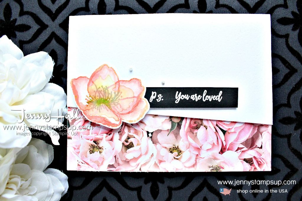 Beautiful Promenade watercolor card created by Jenny Hall at www.jennystampsup.com for #cardmaking #beautifulpromenade #watercolorpainting #stamping #stampinup #stamparatus #cascard #cleanandsimplecard #globaldesignproject #floraldesign #jennyhalldesign #jennyhall #jennystampsup #ballerinarose #crafts #diy #craftsforkids #youtuber #videotutorial