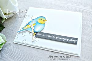 Better With You card created by Jenny Hall at www.jennystampsup.com for #cardmaking #cardmaker #watercolorpainting #birdstamp #birdart #jennyhall #jennyhalldesign #stampinup #stamping #rubberstamp #handmadecard #crafts #diy #papercrafts #lifestyle #handpainted