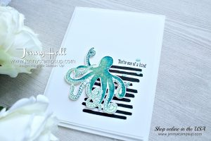 How to add shadows with the Stamparatus card created by Jenny Hall at www.jennystampsup.com for #cardmaking #stamparatus #seaoftextures #playfulbackgrounds #octopusstamp #ombre #texture #cascard #cleanandsimplecard #poolparty #pacificpoint #jennyhall #jennyhalldesign #jennystampsup #stamping #stampinup #colorthrowdown #ombre #shadowsofcolor #design #crafts #diy