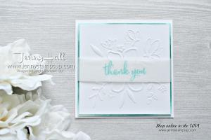 Love What You Do stamp with Lovely Floral tief