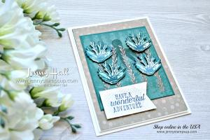 Sea of Textures masculine card created by Jenny Hall