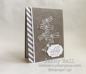 Birthday Blossoms and Detailed Dragonflies by Jenny Hall www.jennystampsup.com