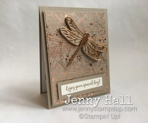 Dragonfly Dreams in copper by Jenny Hall www.jennystampsup.com