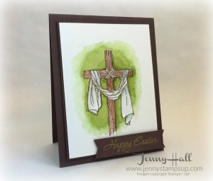 Easter Message card by Jenny Hall www.jennystampsup.com